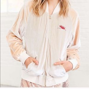 ff93ac4a4 Urban Outfitters Jacket Bomber Velvet Mermaid NWT